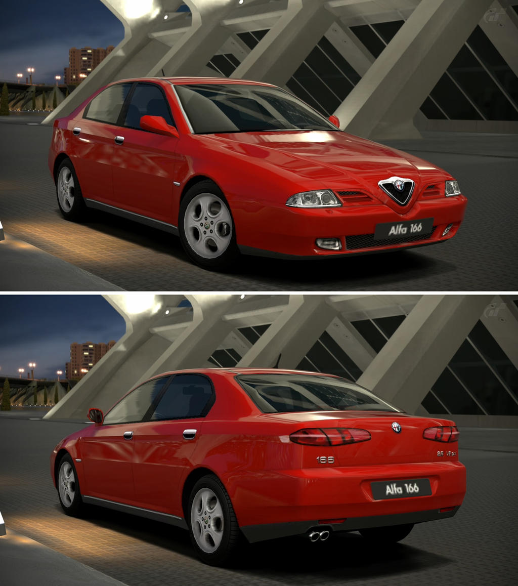 Alfa romeo 166 2 5 v6 24v sportronic 39 98 by gt6 garage on for Garage alfa romeo 95