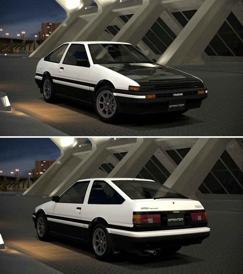 Toyota SPRINTER TRUENO GT-APEX (AE86 Shuichi Sh... By GT6