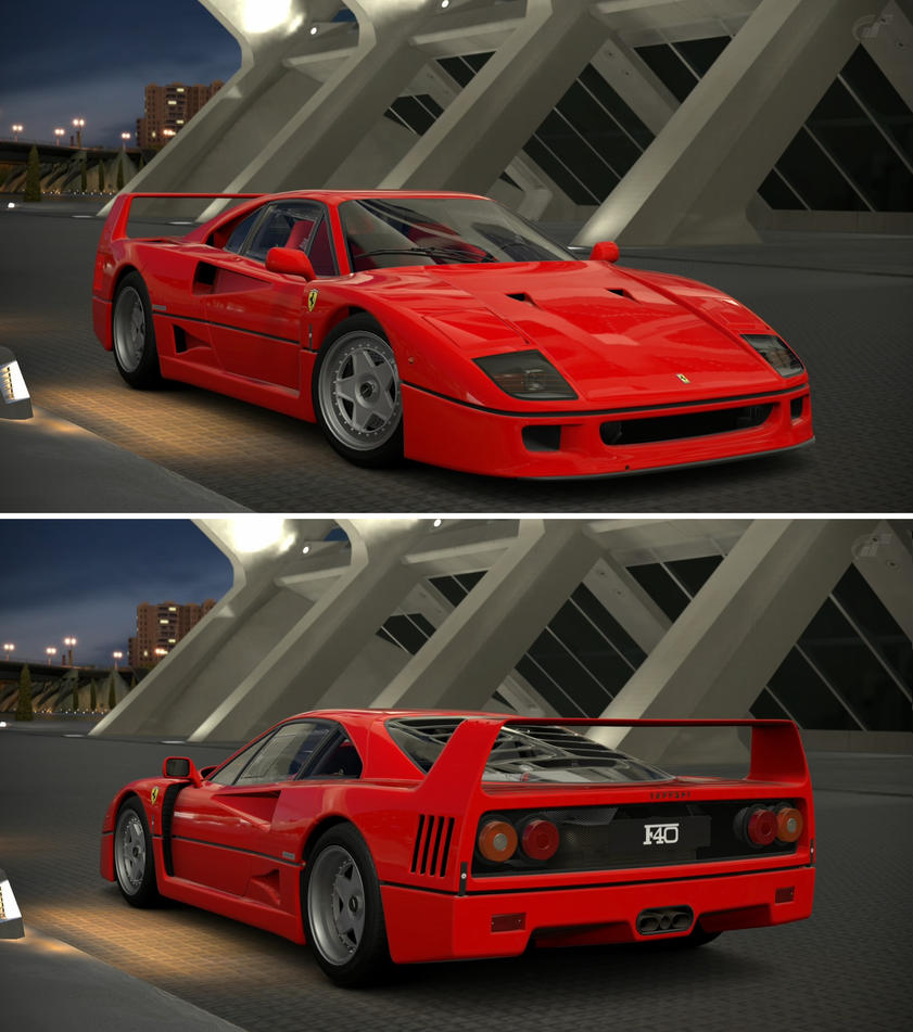 Ferrari F40 '92 By GT6-Garage On DeviantArt