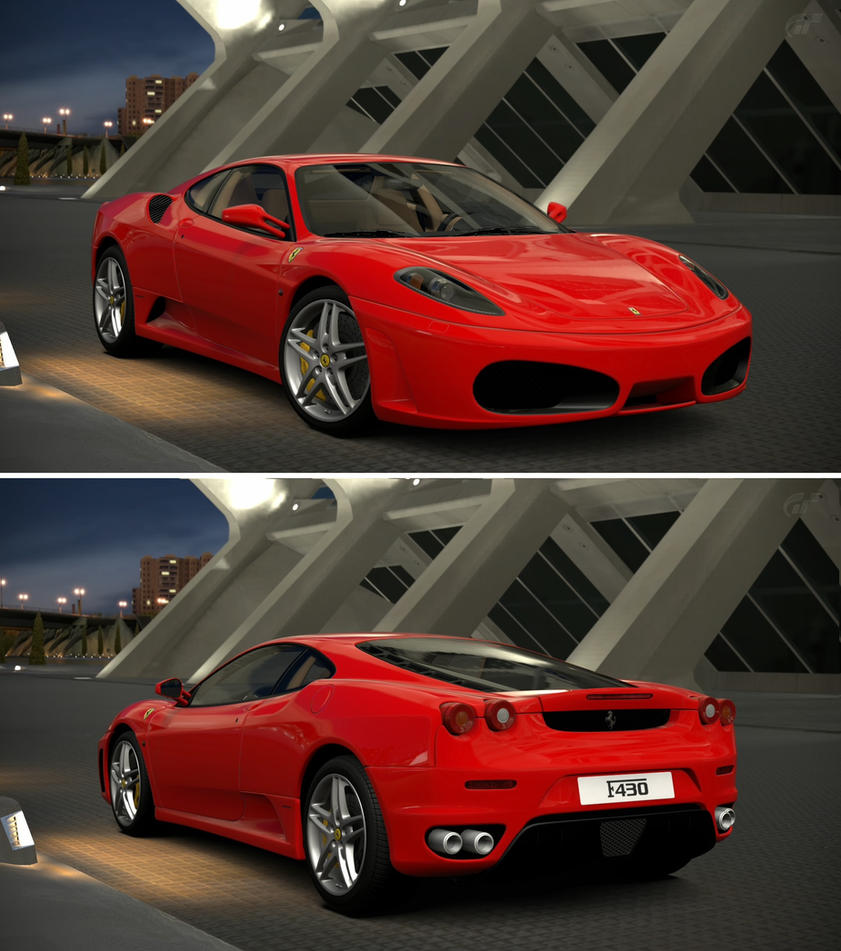 Cenário 3d Ferrari F430 Modelo 3d: Ferrari F430 '06 By GT6-Garage On DeviantArt