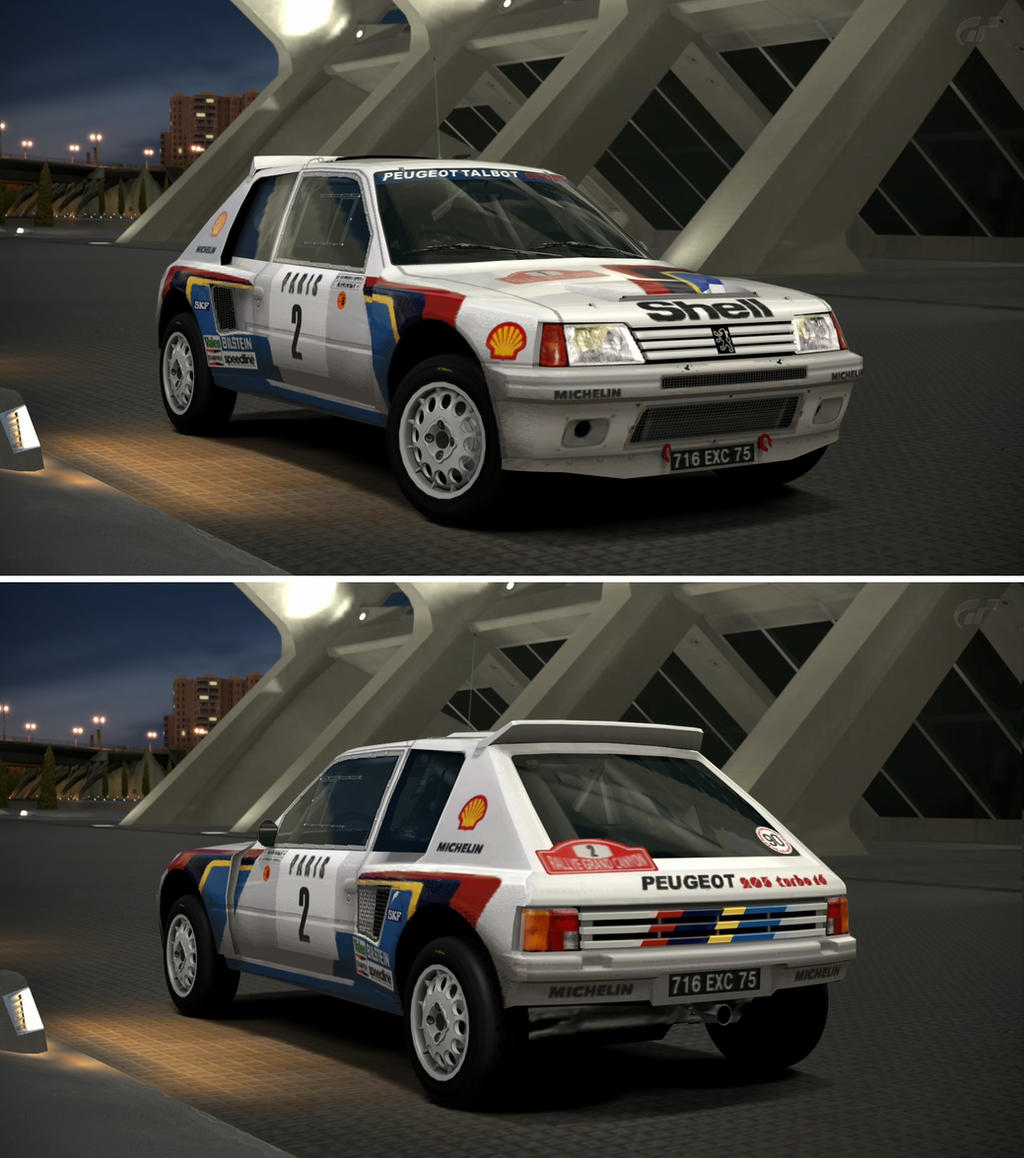 peugeot 205 turbo 16 rally car 39 85 by gt6 garage on deviantart. Black Bedroom Furniture Sets. Home Design Ideas