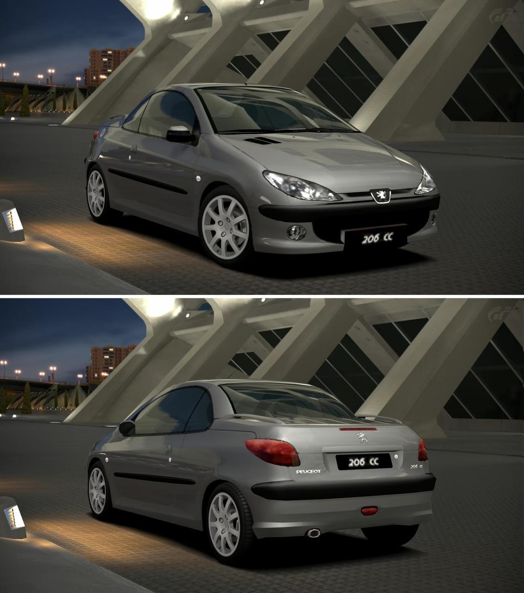 Peugeot 206 CC \'01 by GT6-Garage on DeviantArt