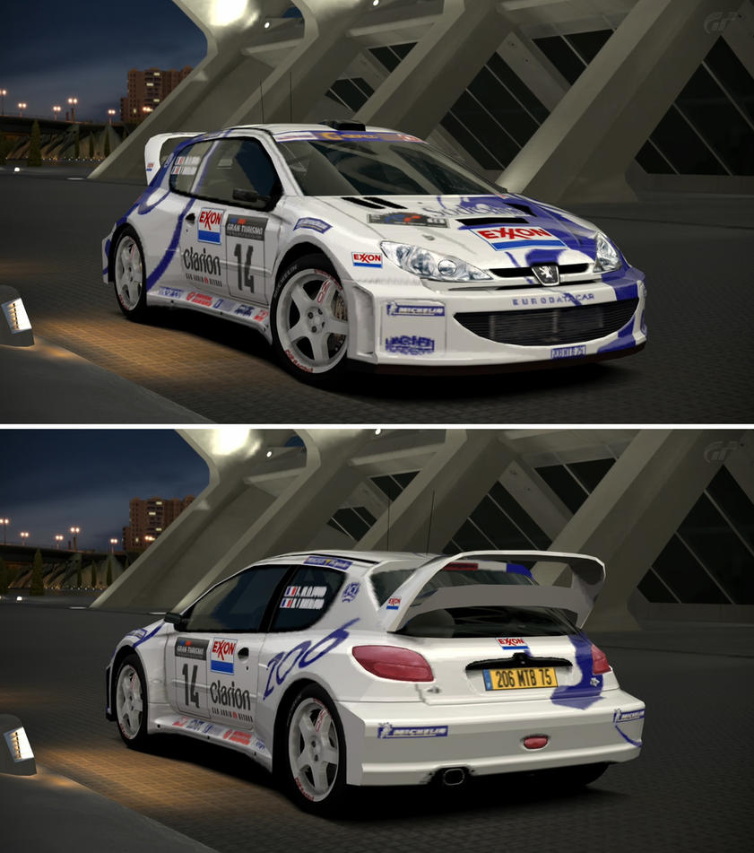 Peugeot 206 Rally Car 99 By Gt6 Garage On Deviantart