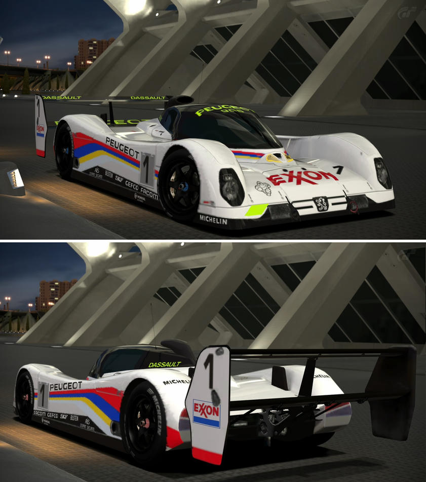 peugeot 905b evo 1 bis lm 39 92 by gt6 garage on deviantart. Black Bedroom Furniture Sets. Home Design Ideas