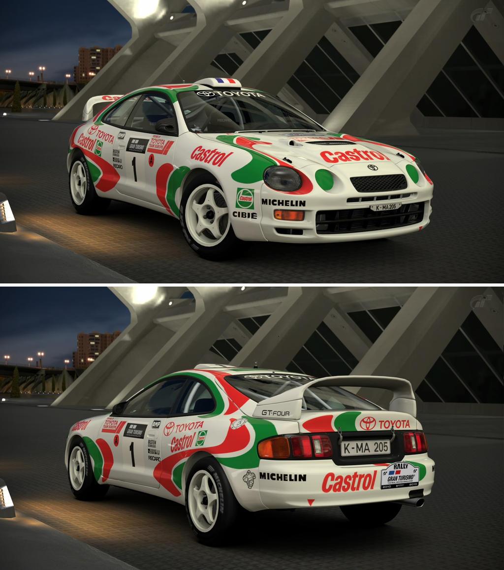 Toyota CELICA GT-FOUR Rally Car (ST185) \'95 by GT6-Garage on DeviantArt