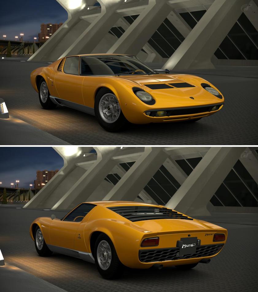 Lamborghini Miura: Lamborghini Miura P400 Bertone Prototype CN.070... By GT6