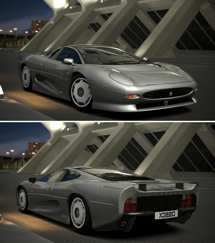 Jaguar xj220 39 92 by gt6 garage on deviantart for Garage jaguar lille