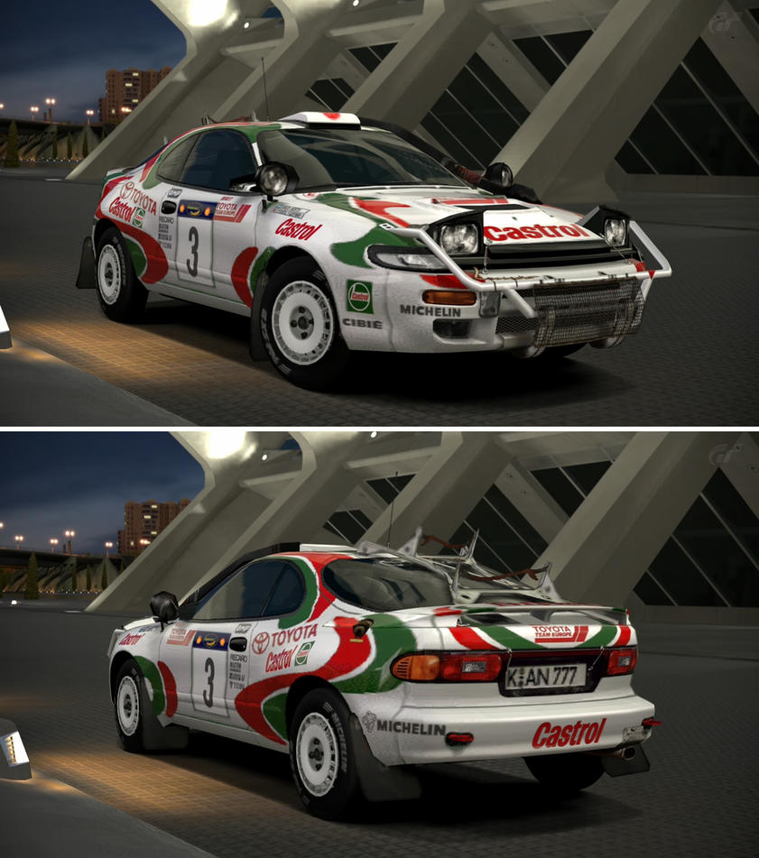 Toyota toyota celica 92 : Toyota CELICA GT-FOUR Rally Car (ST185) '95 by GT6-Garage on ...