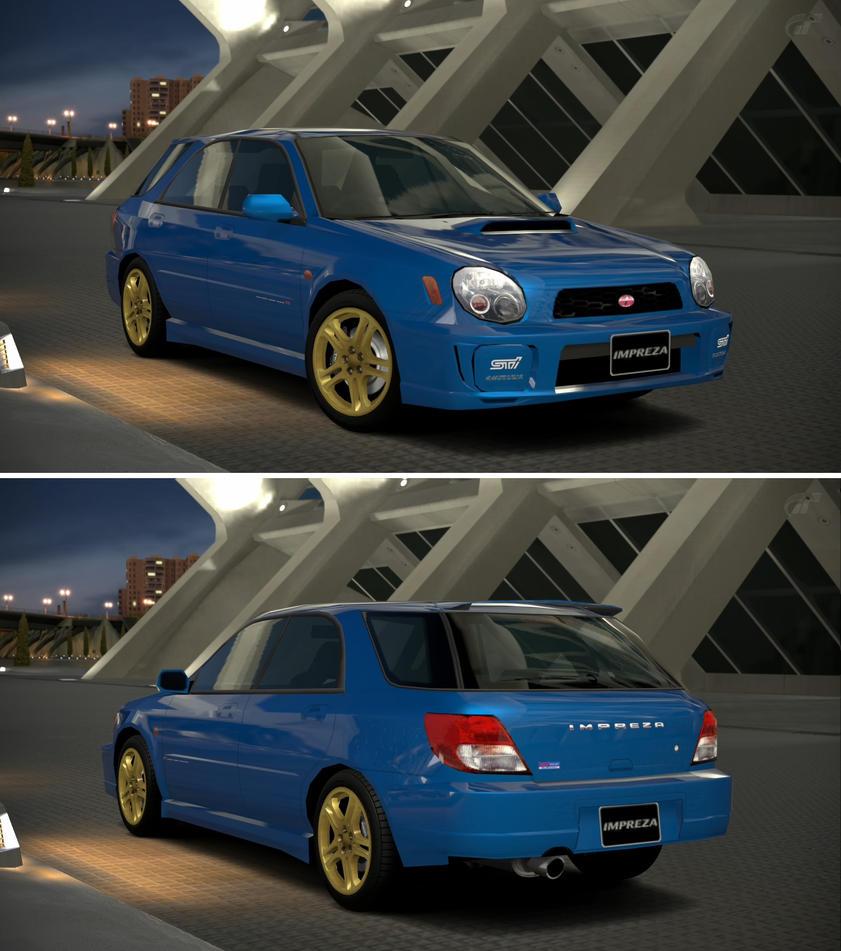 Subaru IMPREZA Sport Wagon STi (Type-I) '00 By GT6-Garage