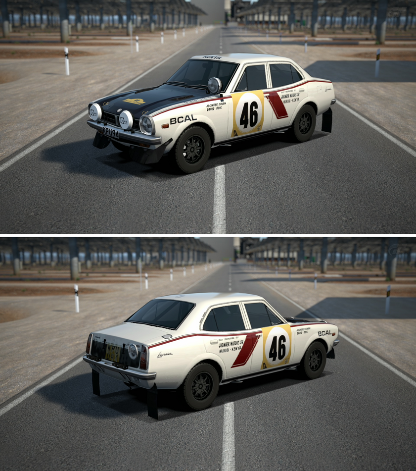 Mitsubishi lancer 1600 gsr rally car 39 74 by gt6 garage on for Garage automobile 74
