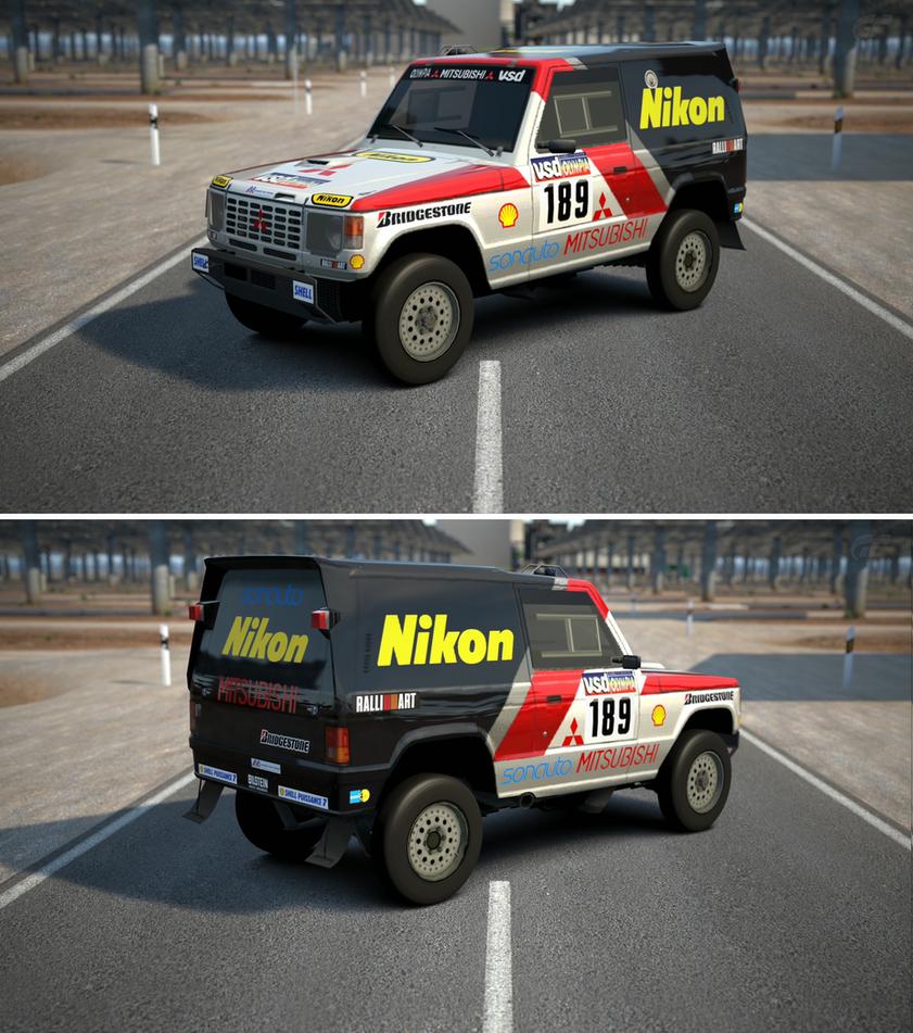 Mitsubishi pajero rally raid car 39 85 by gt6 garage on for Garage mitsubishi paris