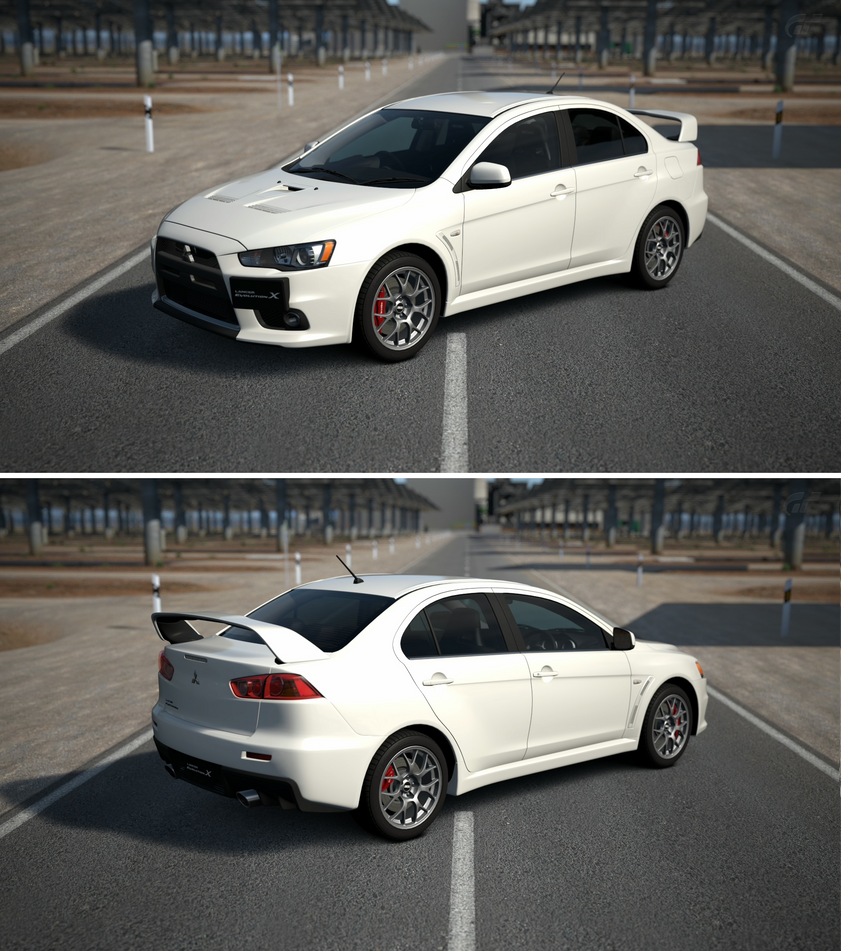 Mitsubishi Lancer Evolution X: Mitsubishi Lancer Evolution X GSR Premium Packa... By GT6