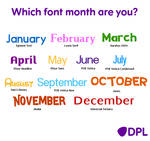 Font Month 2016 or 2017