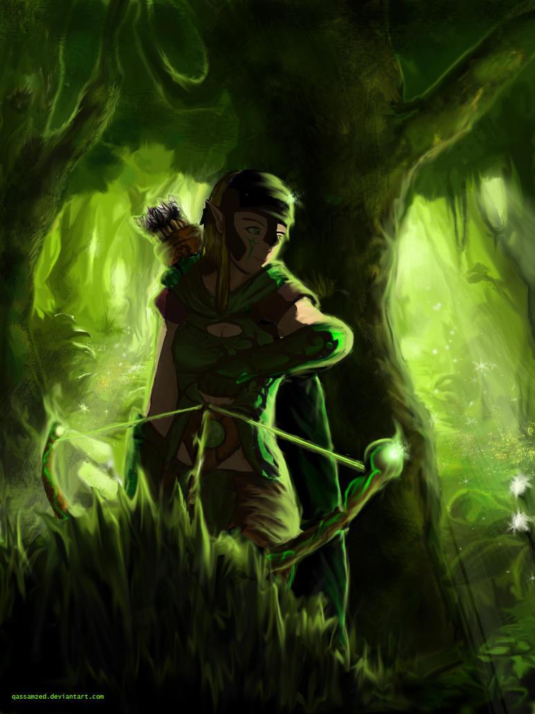 Elf Ranger by qassamzed