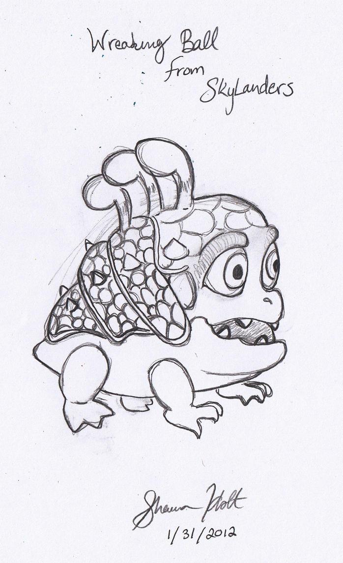 skylander wrecking ball coloring pages - photo#5