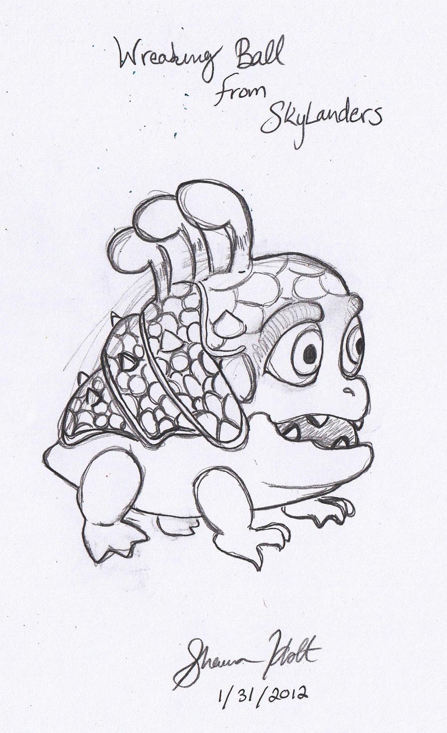 skylander wrecking ball coloring page - wrecking ball 2 by pentaclesinner on deviantart