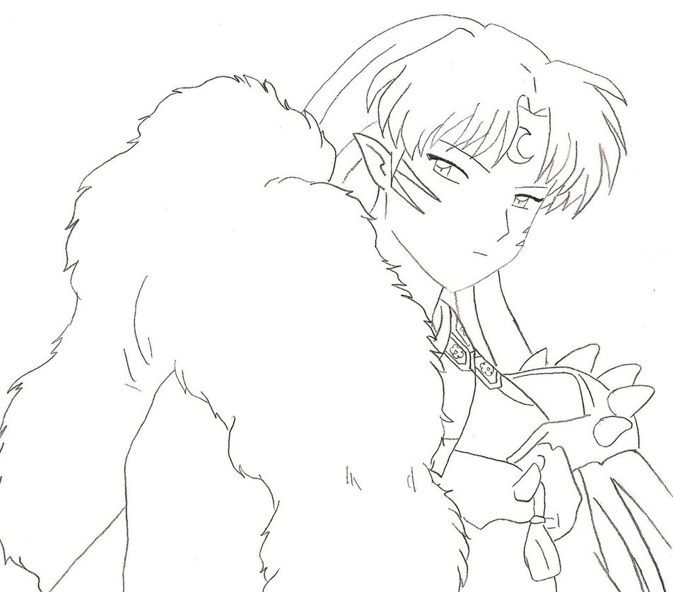 sesshoumaru coloring pages - photo#23