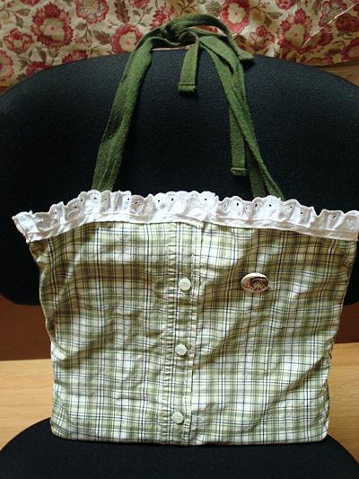 Plaid Green Tote Bag by Kimmybeans