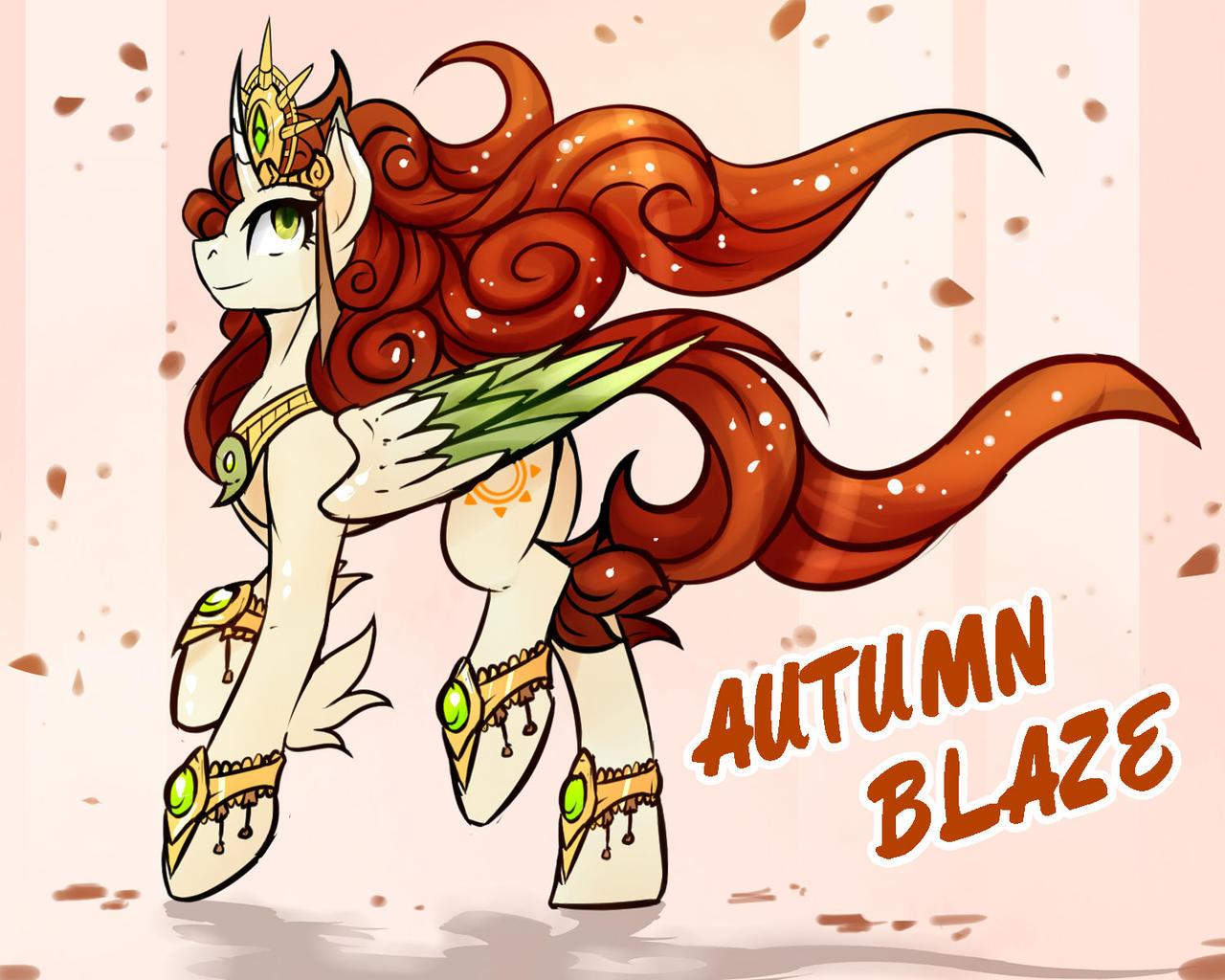 [MLP] RACESWAP - Alicorn Autumn Blaze by MrWh0ever