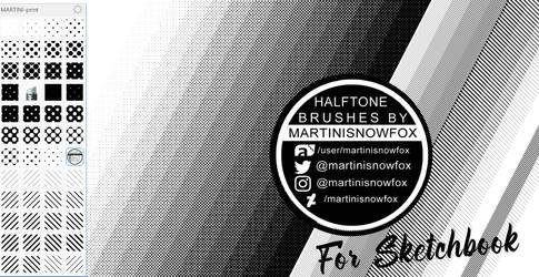 HALFTONE BRUSHES for Sketchbook-app 4FREE (win10)