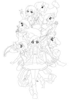 Tenshi Zutto-Chan GC Wallpaper LINE ART