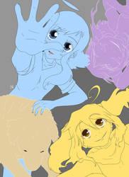 Basic colours (Kami, Kuro, Nanako w Wan)