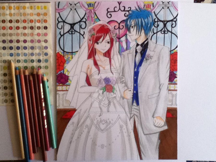 Erza and Jellal by ZeRo-SaMa23