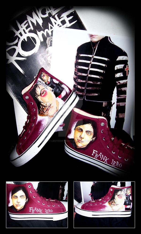 Frank Iero Customized Shoes by LieutenantDeath on DeviantArt  Frank Iero Cust...
