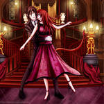 Dancing with the Devil (drawing) by namisiaa