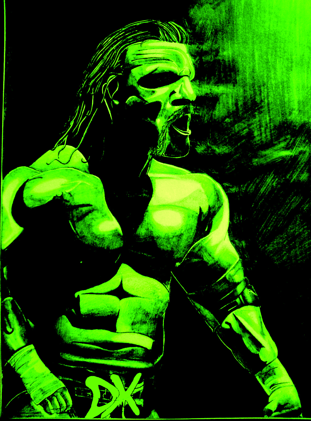 triple h dx green by iainmeisterrko on deviantart