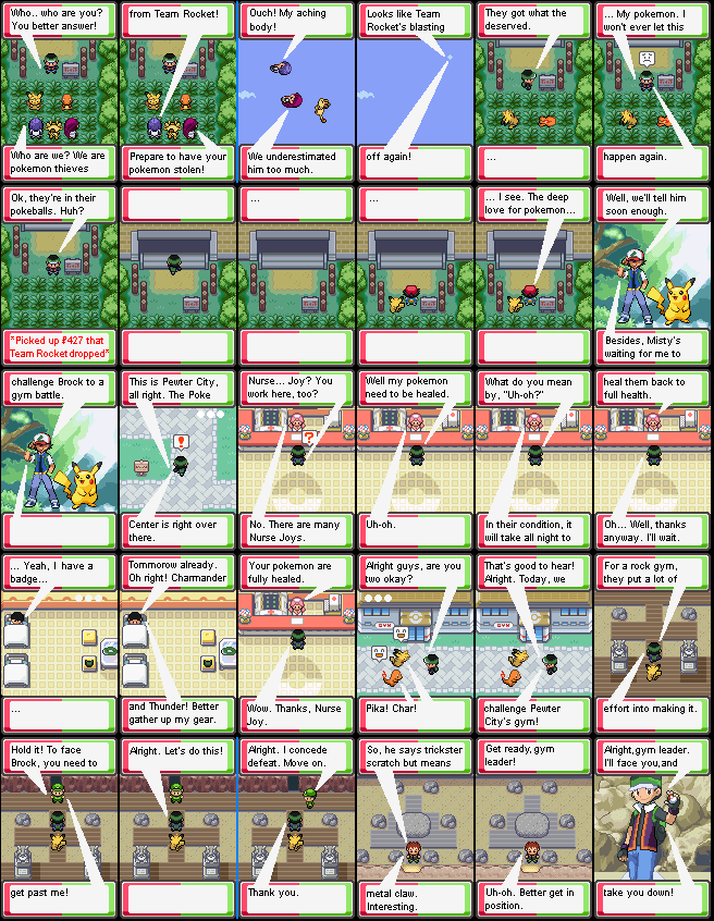PKMN MA Ch. 5 TRio and Pewter Gym by PKMNTrainerSpriterC
