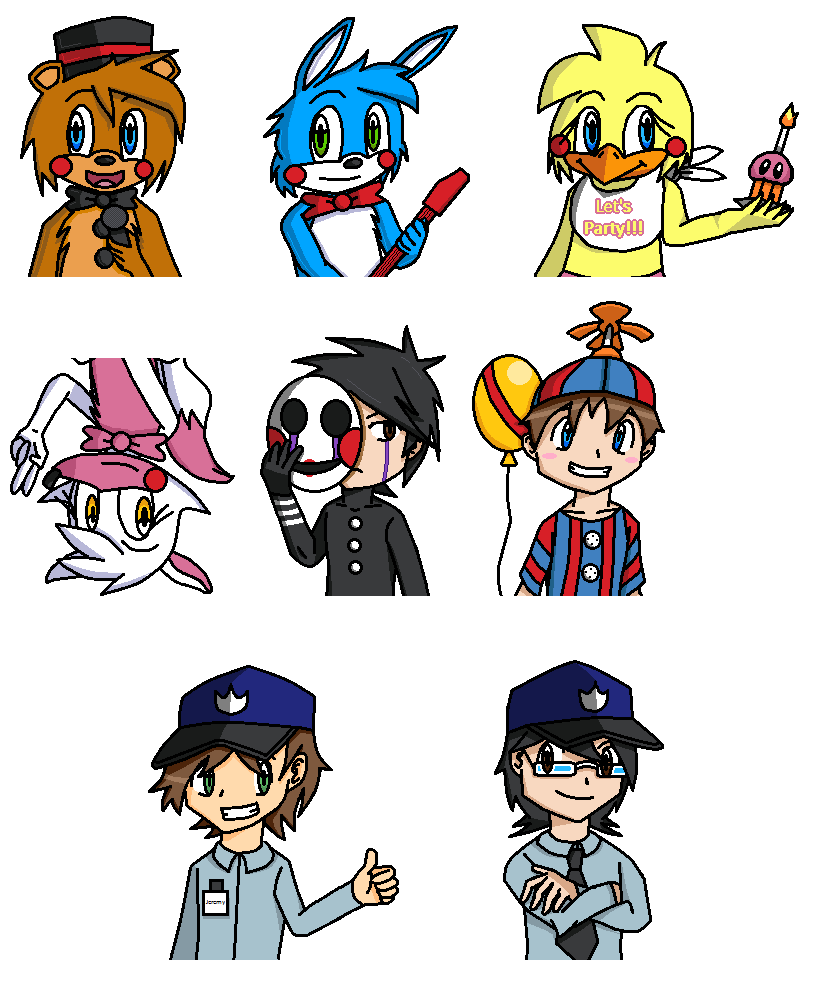 Five Nights at Freddy's 2 Concept by PKMNTrainerSpriterC
