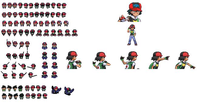 Sprite Request-BlackStorm20x- Sinnoh!Ash by PKMNTrainerSpriterC