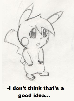 Pokemon Practice #1 - Pikachu #1 by PKMNTrainerSpriterC