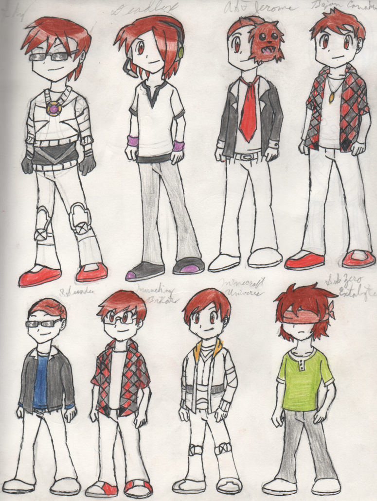 Old Minecraft Youtuber Drawings by PKMNTrainerSpriterC