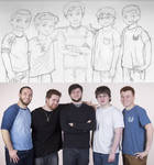 Drawing of Sky, Ross, Mithzan, Barney, Red Photo