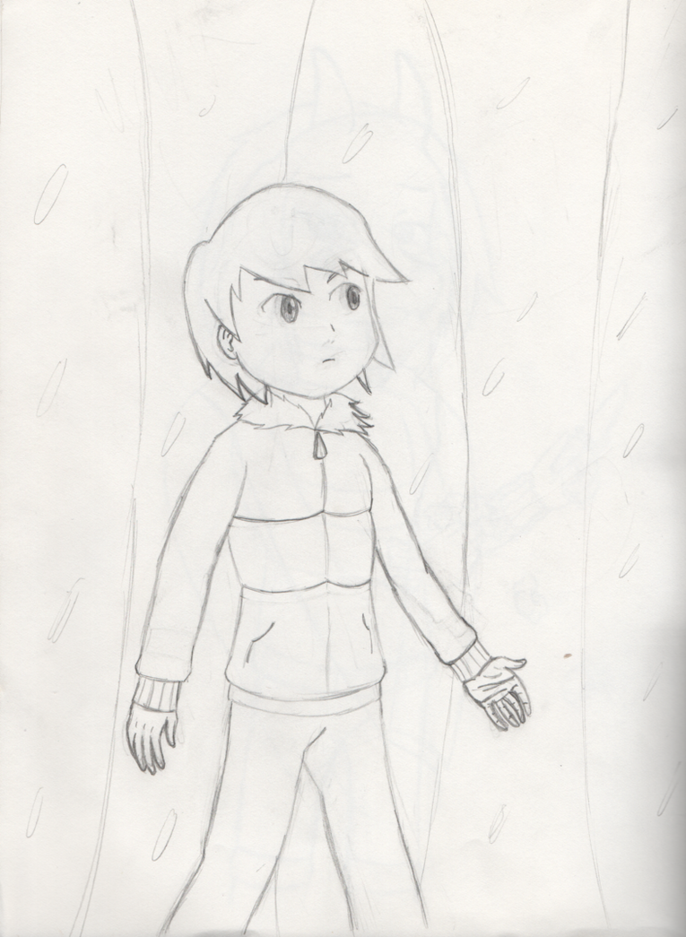 Undertale - Frisk Exiting the Ruins Sketch by PKMNTrainerSpriterC