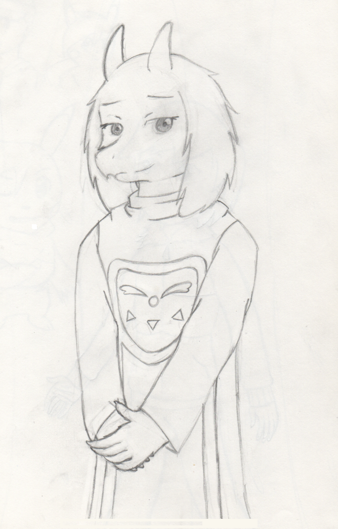 Undertale - Toriel Sketch by PKMNTrainerSpriterC