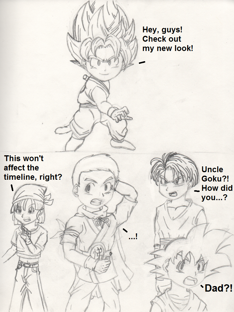 Dragon Ball Fusions - What If? - SSJ Kid Goku?! by PKMNTrainerSpriterC