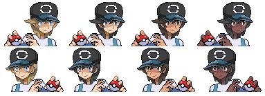 Pokemon SM - Elio Mugshot Sprites by PKMNTrainerSpriterC