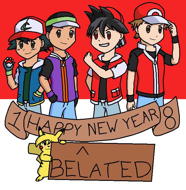 Happy (Belated) New Year 2018! by PKMNTrainerSpriterC