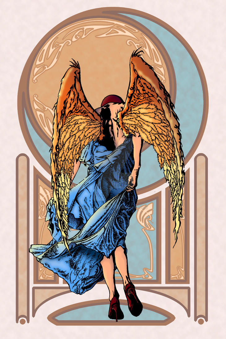 Art N Angel Poster-1 small by malcolmjdrake73