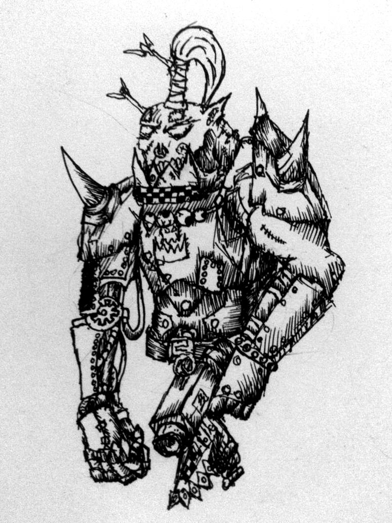 Ork Nob by Riptide90k