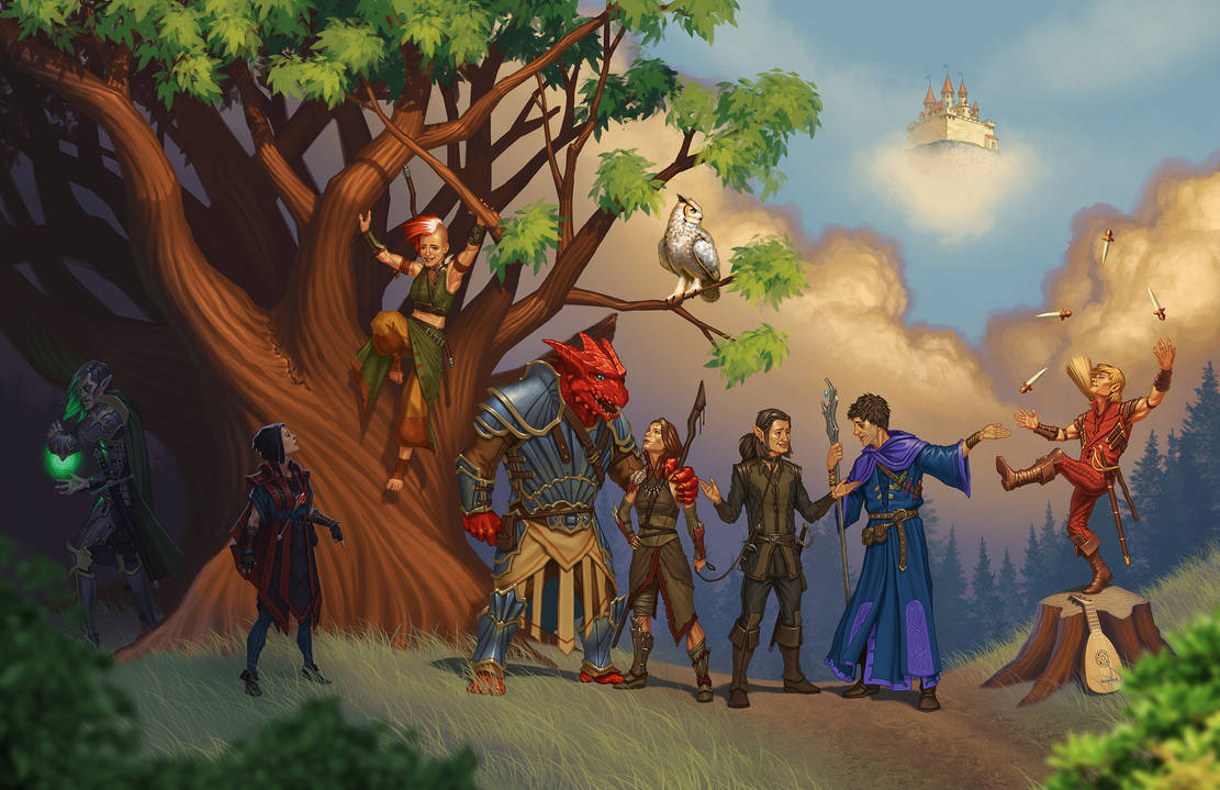 Dungeons and Dragons Player Group by JamesDenton