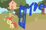 Apple Bloom Cutie Mark Crusaders Part1_Cutie by sallycars