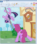 Twilight Learn flying in paint