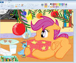Scootaloo Christmas in Paint