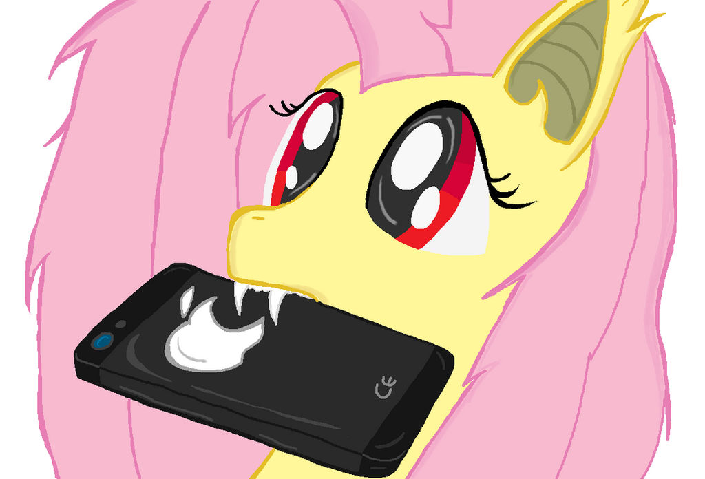 Flutter Bat and Apple I-Phone My little Pony