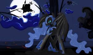 Nightmare Moon  in Ms-Paint