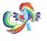 Rainbow Dash Rainbow_POWER  in MS-paint